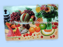 promotional PVC placemat with fruits printed