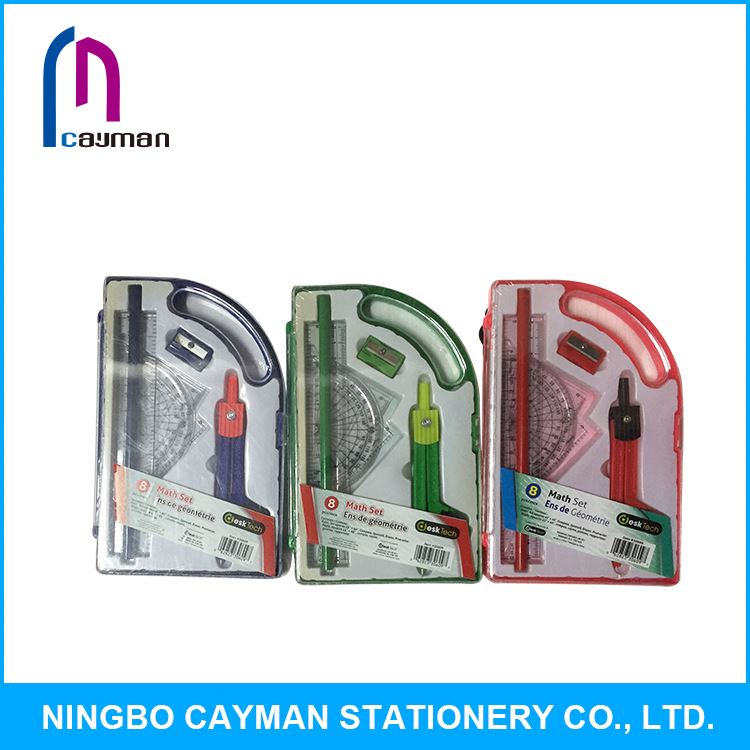 Hot sale high quality low price all kinds of school stationary compass set