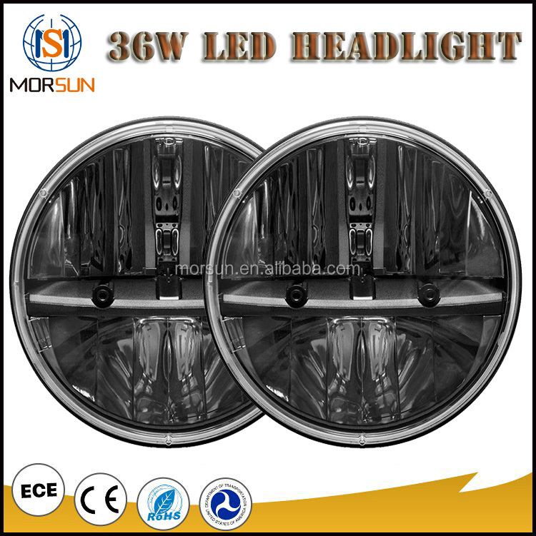 "30w led head light daymaker 7 inch led headlight harley 7"" motorcycle daymaker headlight"