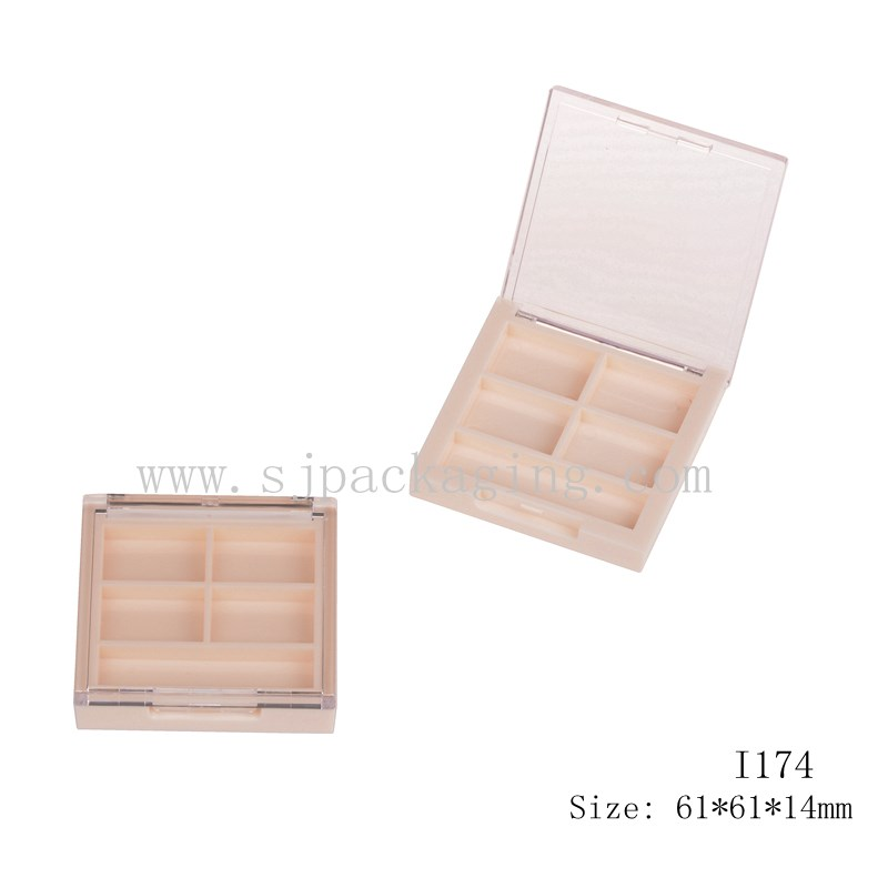 4 colors case make up cosmetics eyeshadow palette