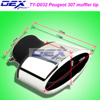 car parts racing tuning dedicated muffler tips for Peugeot 307 exhaust system