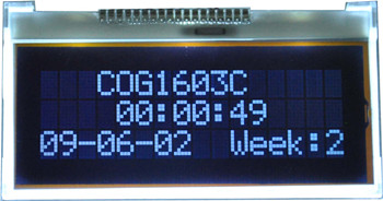 Rohs 1603 16x3 character COG lcd module with backlight