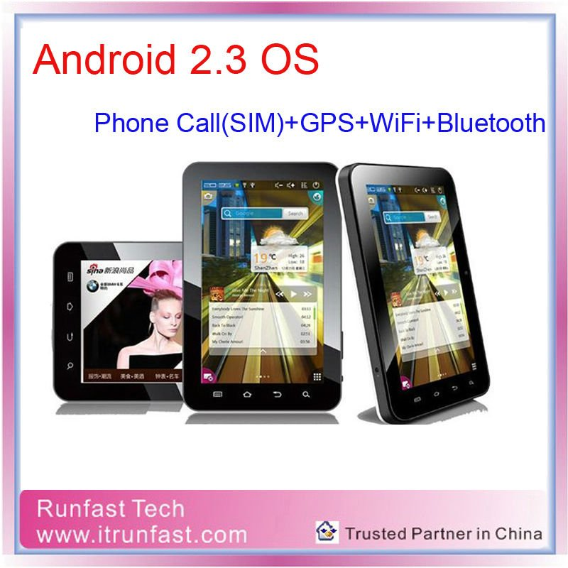 7inch GPS WiFi Bluetooth Phone Tablets with SIM card