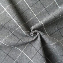 Factory supply popular grey check italian pant men's suit fabric
