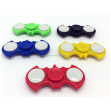 2017 New ABS LED Light Batman Hand Fidget Spinner for Autism and Rotation Time
