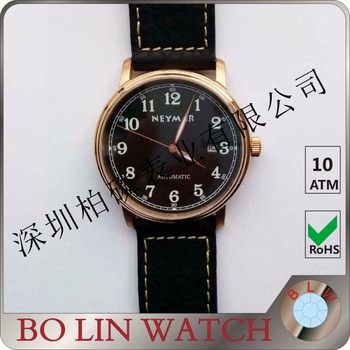 super thin bronze watch, bronze cusn8 watch, slim bronze watch 9.8mm thick