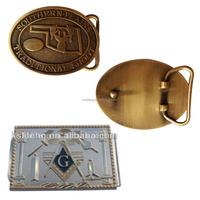Custom Masonic Metal Belt Buckles