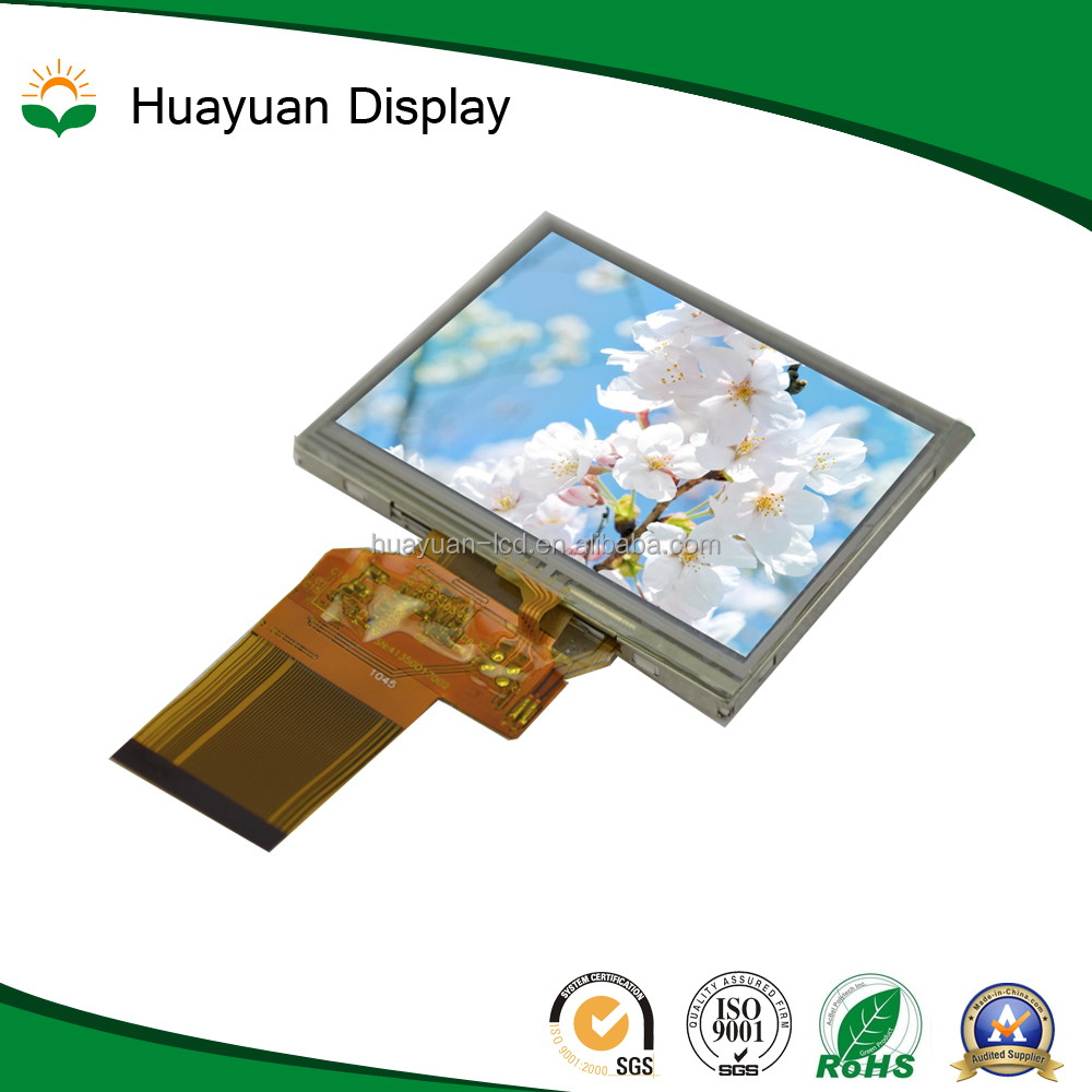 Customized tft display 3.5 inch lcd display with Resistive Touch panel under sunlight readable