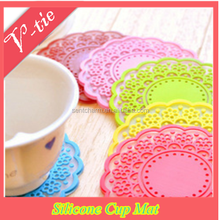 promotional gift set kitchen gadget silicone rubber drink coasters