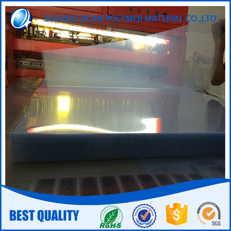 3x6, 4x8 Clear PVC Sheet with 2PE Protective Film for Offset Printing