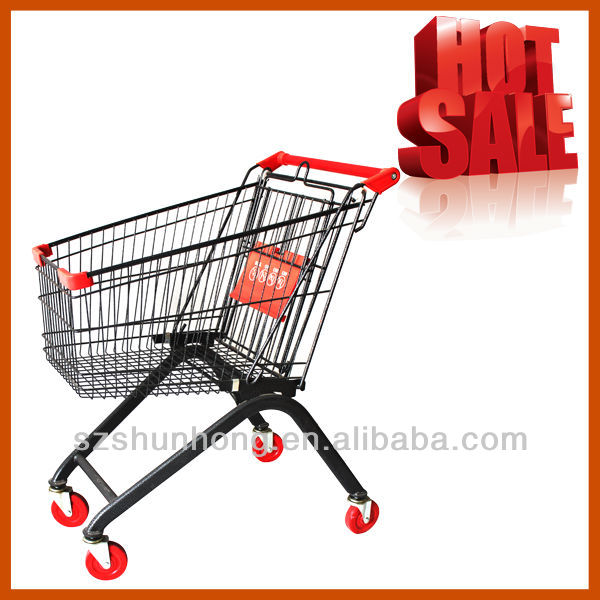 Steel Material 60~240L Ecommerce Shopping Trolley