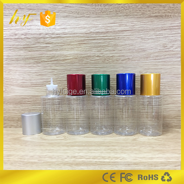 30ml new empty e liquid bottle with aluminum child proof cap and thin dropper