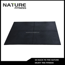 Wholesale 1000mm*1000mm*15mm Black with Cross Mark Pimple Cast Iron Rubber Used Floating Gym Mat for Sale