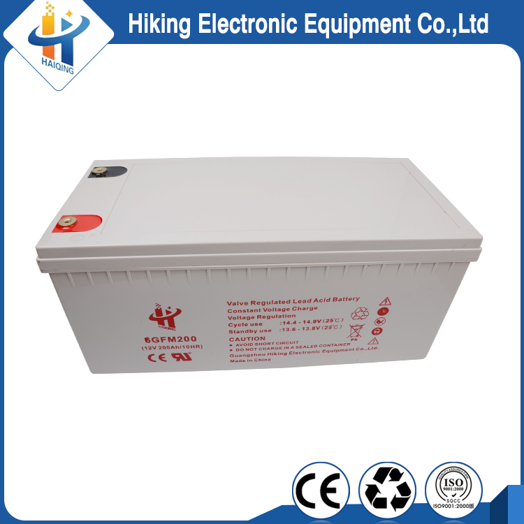 Solar high capacity 12v 200ah sealed deep cycle agm battery
