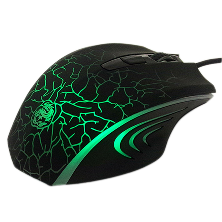 Ergonomic big size Laser etching logo 6D optical gaming mouse