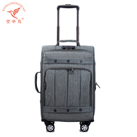 Vintage Classical Nylon Trolley Luggage Set
