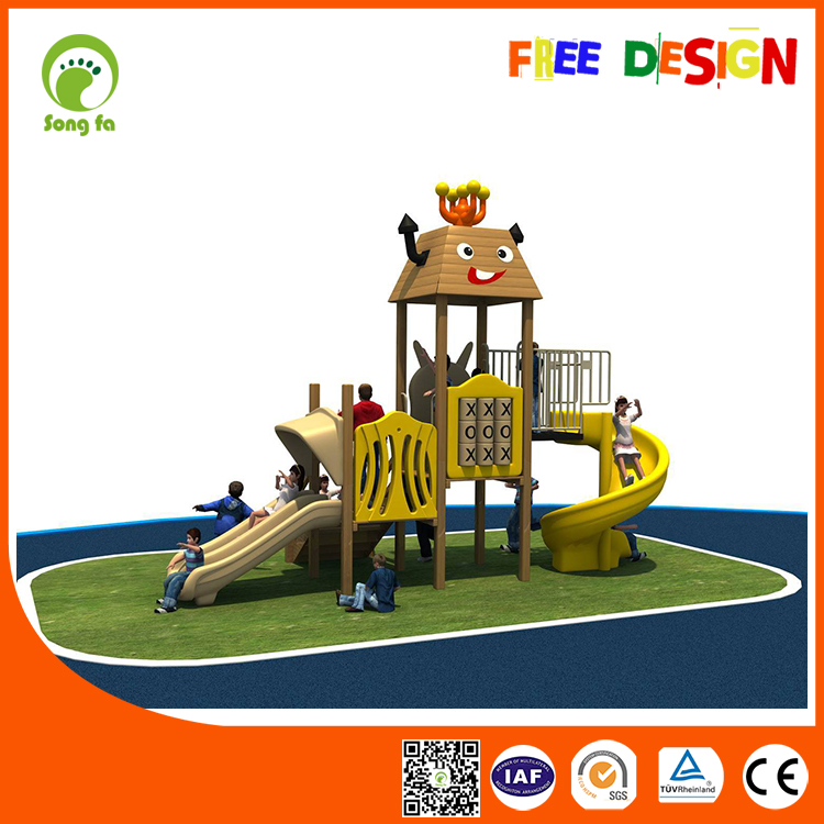 Kids Outdoor Play Equipment Wooden Playsets