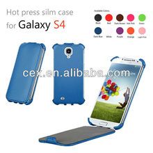 For Samsung Galaxy S4 I9500 Vertical Flip Premium PU Leather Folio Case