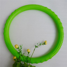 Jade green silicone steering wheel cover