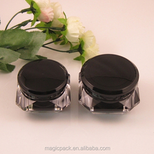15g 30g 50g black color cosmetic skin care products packaging plastic jar screw lid