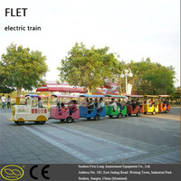 Amusement rides with automatic steering Zoo track train alibaba amusement park train rides tourist train