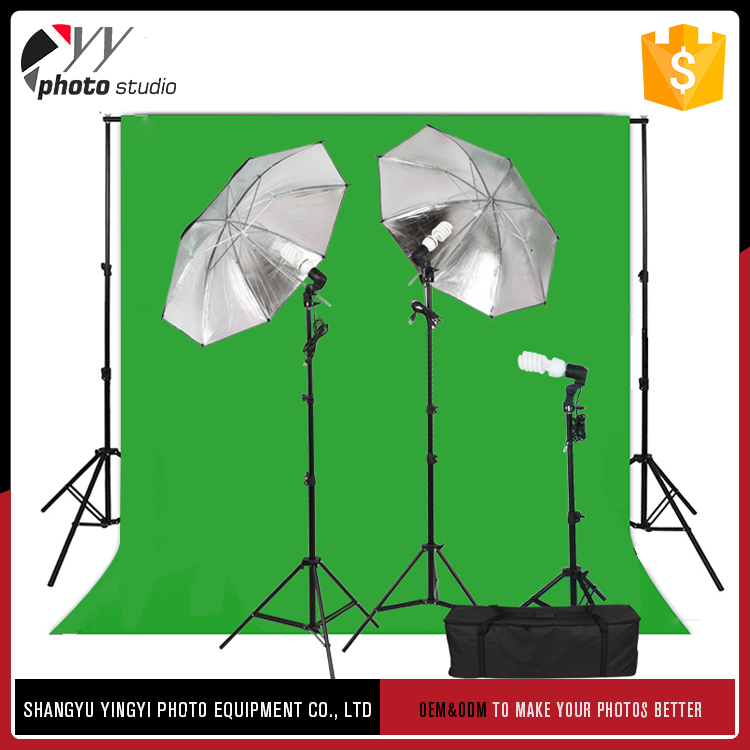 China manufacturer durable black/silver reflectivea umbrella studio light and background