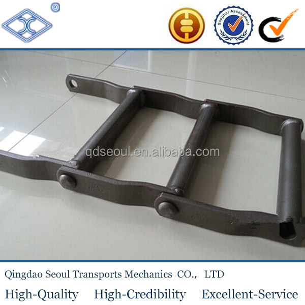 ISO pitch152.4mm WDH110 heavy duty welded steel wood processing machine mill drag conveyor chain