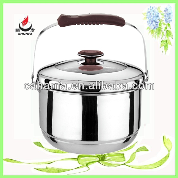 Wholesale Stainless Steel Food Container, 22CM Diameter Hand Pan