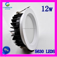 Hot Sale style IP33 12w 960lm smd5630 2800-6500k led downlight