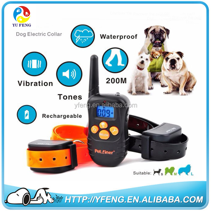 New Arrival Waterproof And Adjustable 998N Electronic Dog Collar Remote Control No Shock Pet Training Collar With LCD Display
