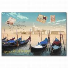 FZDEYI High quality famous boat painting prints canvas