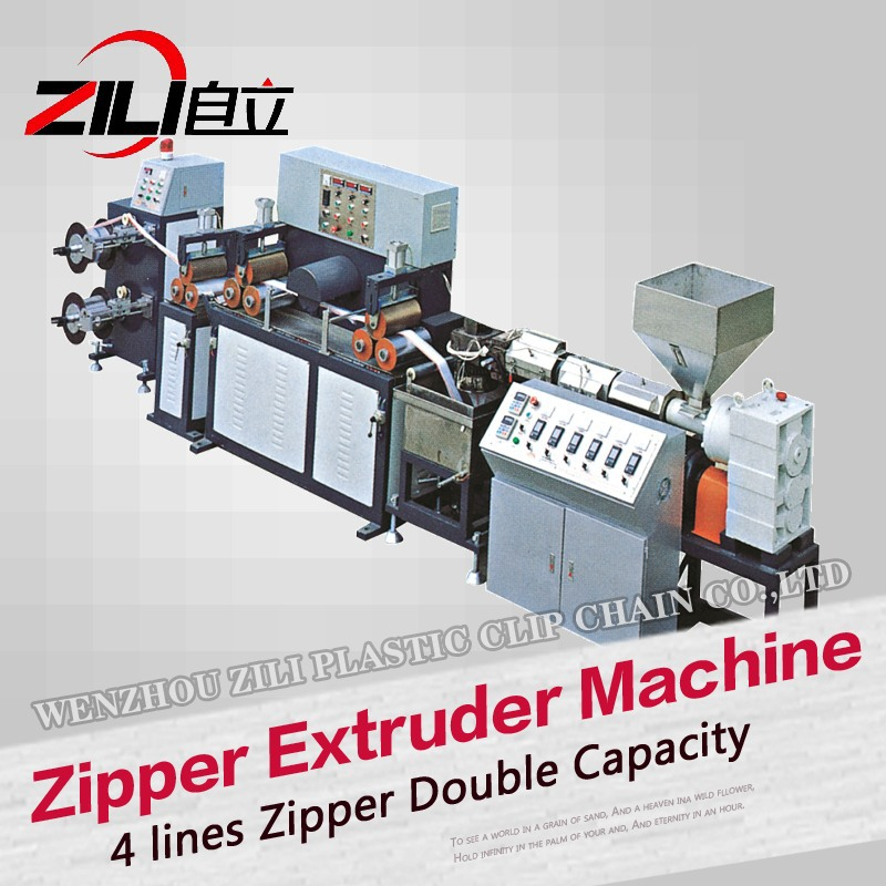 New patent high production open end zipper making extruder machine