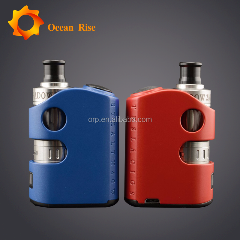 4 Eye-Catching Color Tesla Stealth 40W TC 1300 mAh 8V Mod smoker friendly electronic cigarette second hand smoke