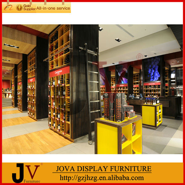 2014 Direct manufacturer high quality modern oak wine cabinet furniture