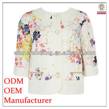 New style 3 / 4 sleeve custom suits for fat women