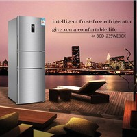 Household energy saving refrigerator three door air cooling non frost