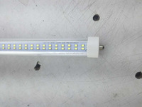 free shipping two line chip clear cover 8 foot t8 led tube with single pin