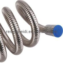 Brass insert ss flexible shower hose 301 stainless steel double-lock fittings