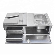 Cool Designs Stainless Steel Slide Out Camper Trailers Kitchens for sale
