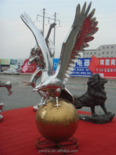 Outdoor Life type stainless steel animal eagle sculpture carving