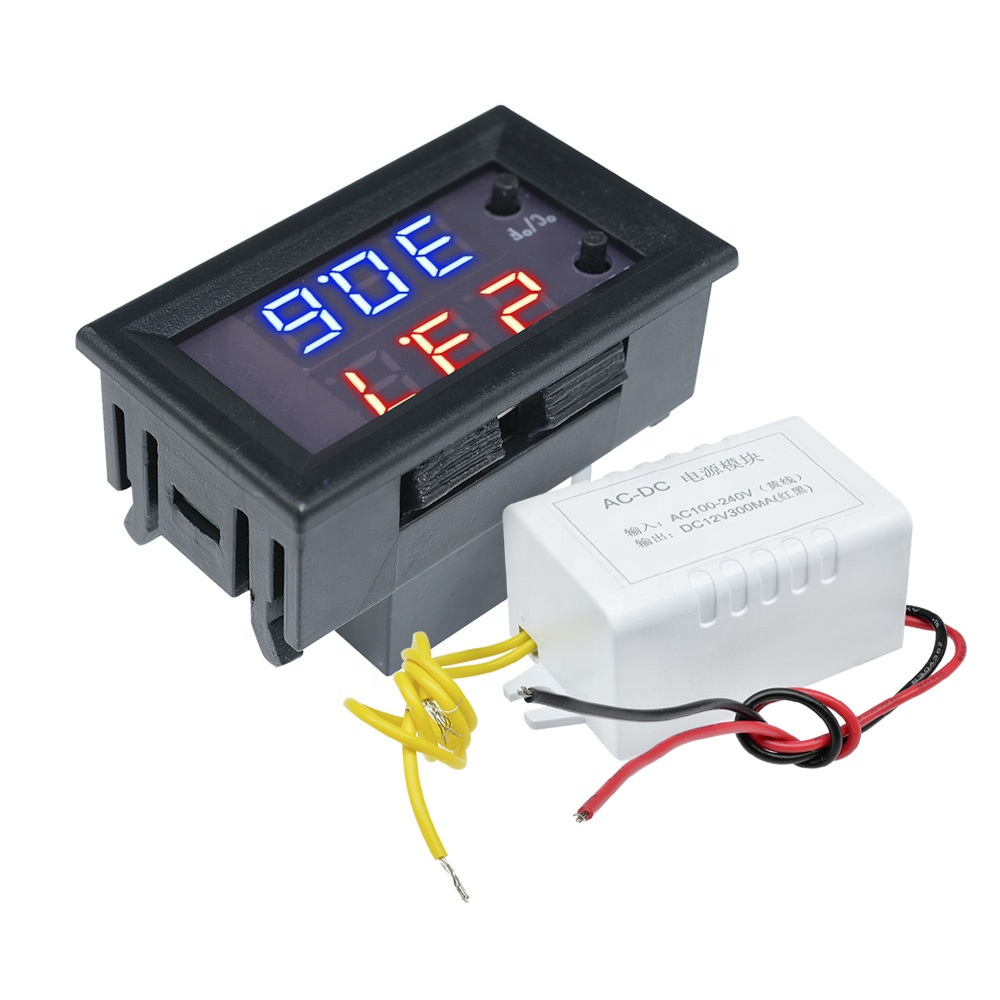 W1209WK DC 12V AC 110V-220V -50-110C Digital LED Thermostat Temperature <strong>Controller</strong> Switch Module NTC Thermostat Sensor Prob