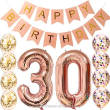 Easternhope 30th Birthday decorations Party supplies, Rose Gold Balloons, Banner, Table Confetti Decorations For Women