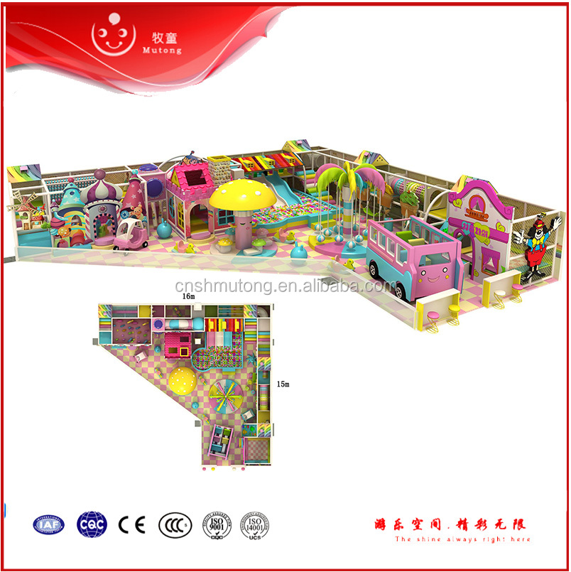 2016 Commercial Used Children Indoor Playground Equipment Soft Play for Sale