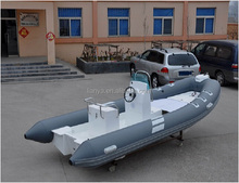 Liya 5.2m flat bottom FRP rib patrol boat inflatable rowing boat