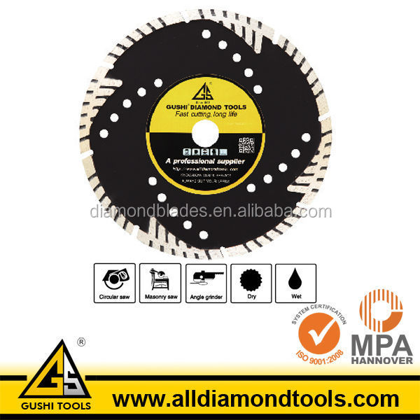 MG Diamond Granite Wet Cutting Protective Teeth Saw Blade