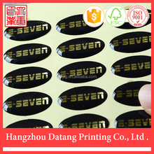 oval logo printed epoxy sticker/label
