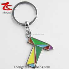 Hot sale T letter key chain,alphabet letters keychain,customized keyrings high quality