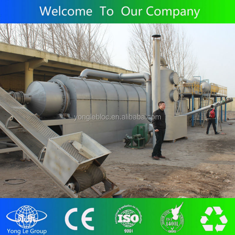 Green project crude oil extracting from scrap rubber machine in Czech Republic