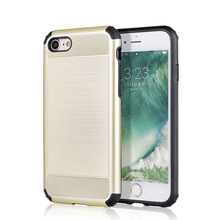 Hybrid brushed metal texured design phone cases, anti slip impact shock proof for iphone 8 8 plus case