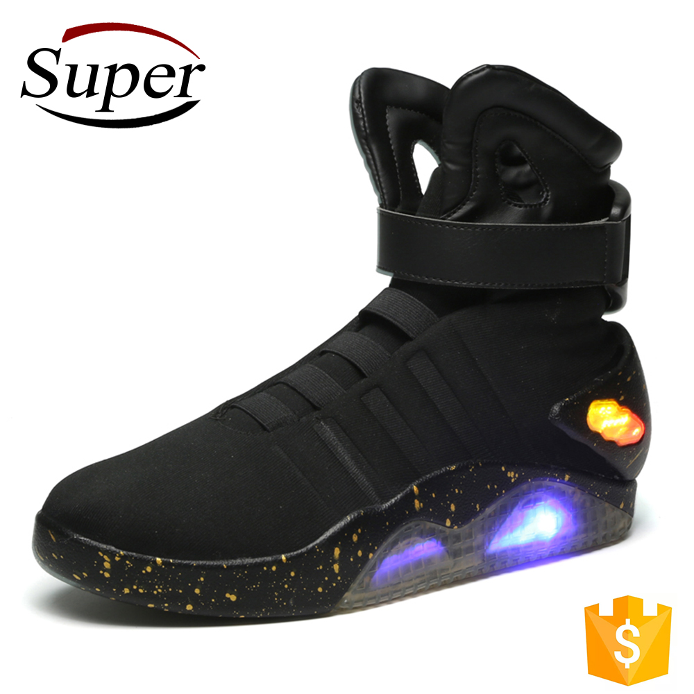 No Brand Cheap Wholesale High Top Women Led Shoes Dance Sneakers